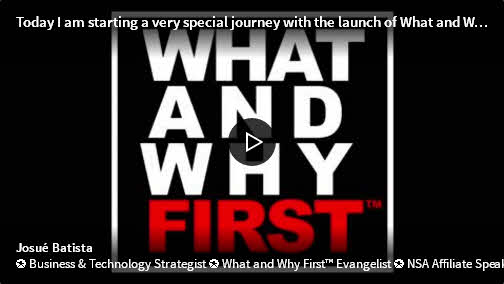 What and Why First – Launch Video