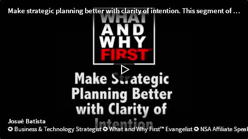 Make Strategic Planning Better with Clarity of Intention