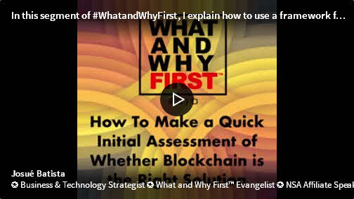 How to Make a Quick Initial Assessment of Whether Blockchain is the Right Solution