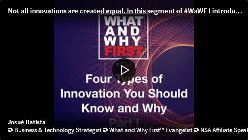 Four Types of Innovation You Should Know and Why – Part I