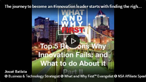Top Five Reasons Why Innovation Fails and What to do About it - Part II