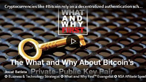 The What and Why About Bitcoin's Private-Public Key Pair