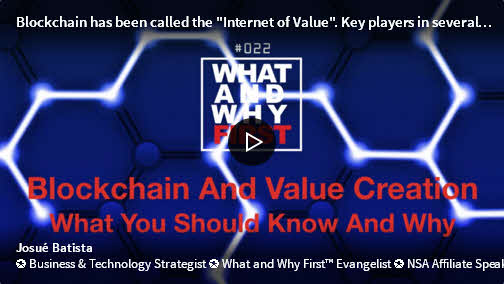 Blockchain And Value Creation - What You Should Know And Why