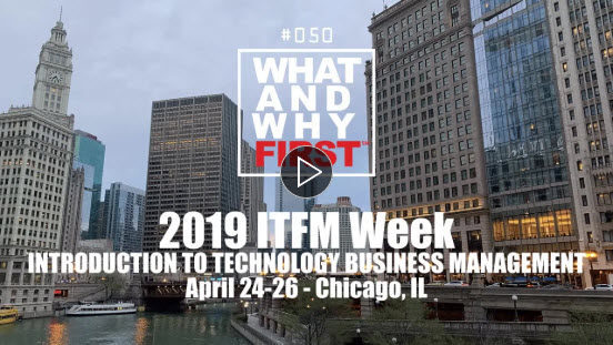 2019 ITFM Week - Introduction to Technology Business Management